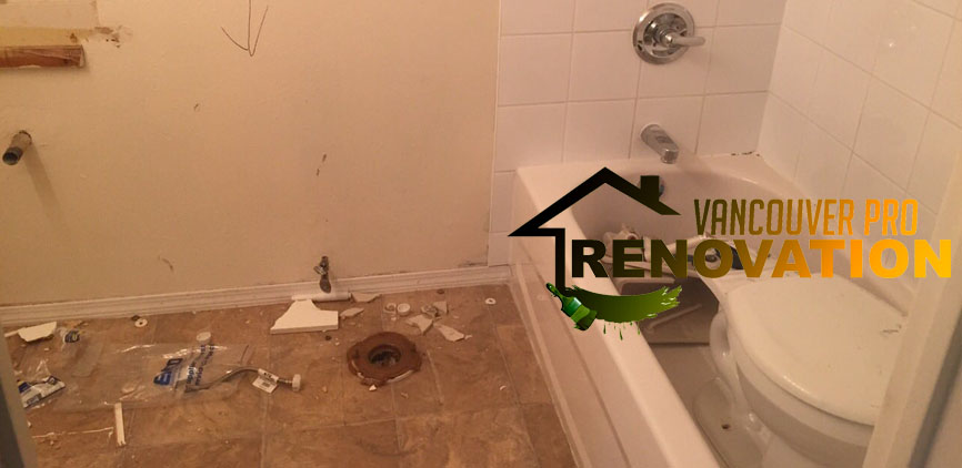 Bathroom Demolition and Disposal By VanProRen - in Canada BC